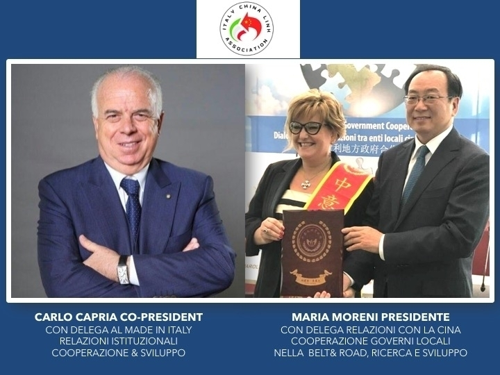 PRESIDENT MARIA MORENI - CO PRESIDENT CARLO CAPRIA - ICLA Italy - China Link Association